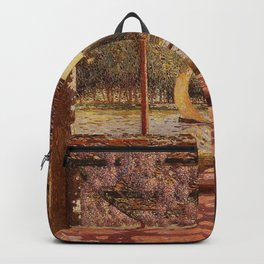 The Trellis by the River by Ferdinand Du Puigaudeau Backpack