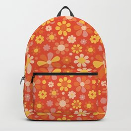 Sunny garden (On orange background) Backpack