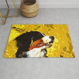 bernese mountain dog vector art Rug