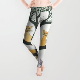 Cimarron Whimsical Cats Leggings