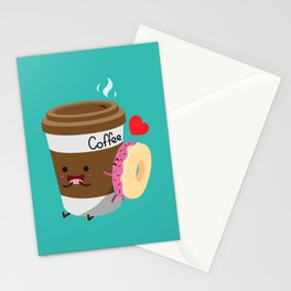 Coffee and Donut Stationery Cards