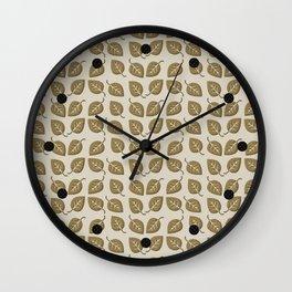 Fall Leaf Pattern Wall Clock