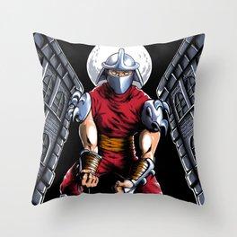 Evil Shredder Throw Pillow