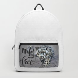 Snow leopard Wild and Free Backpack