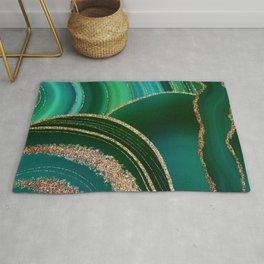 Emerald Marble Glamour Landscape Rug