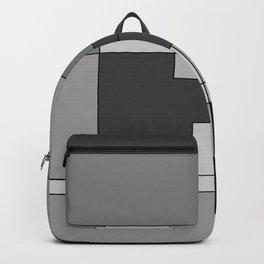Graphic in grey tones Backpack