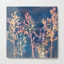 Denim And Lace Metal Print