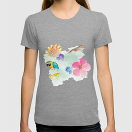 cloud collage T-shirt