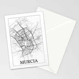 Murcia, Spain, city map Stationery Cards