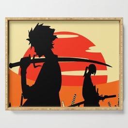 Sharp Like An Edge Of A Samurai Sword Serving Tray
