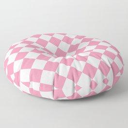Diamonds - White and Flamingo Pink Floor Pillow