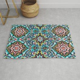 Traditional ceramic tile design Portugal Terrazzo Blobs Rug