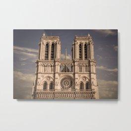 Notre-Dame Cathedral, Paris Metal Print