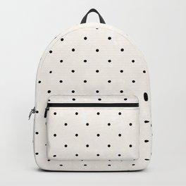 Modern hipster ivory black geometric polka dots  Backpack