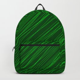 Royal ornament of their green threads and dark intersecting fibers. Backpack