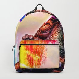 Rainbow Octopus Wearing Love Heart Glasses Backpack