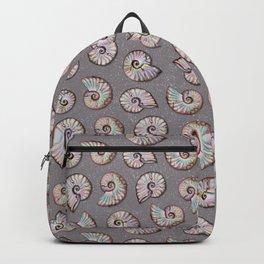 Iridescent Ammonites - Fossil Pattern Backpack