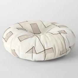 "Proto pattern n 1 ""toffee cake"" Floor Pillow"