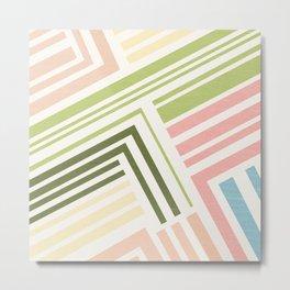 Binta II Geometric Abstract Metal Print