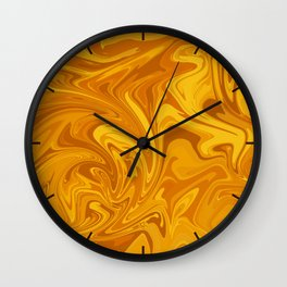 Molten Honey Wall Clock