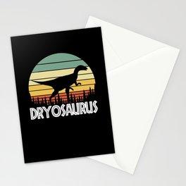 dryosaurus. Gift for dinosaur lover Stationery Cards