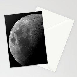 Grey Moon on Black Sky Stationery Cards