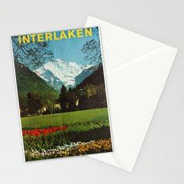 Vintage Placard Interlaken Jungfrau OMB Switzerland Stationery Cards