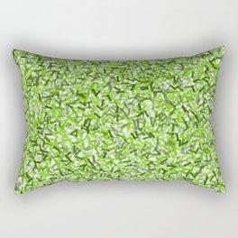 Kelly Green Arrows Pattern Rectangular Pillow