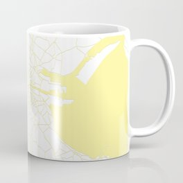 White on Yellow Dublin Street Map Coffee Mug