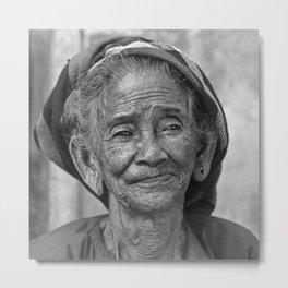 PORTRAIT of an OLD VIETNAMESE WOMAN Metal Print