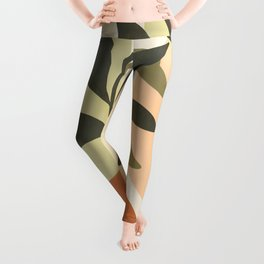 Tropical leaves with sun and rainbow nº2 Leggings