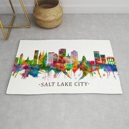 Salt Lake City Utah Skyline Rug
