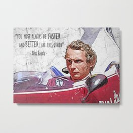 WallArt Niki Lauda Metal Print