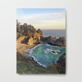 Big Sur Waterfall 2 Metal Print
