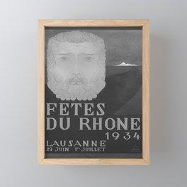 retro retro Fetes du Rhone poster Framed Mini Art Print