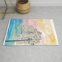Rome Italy Trevi Fountain at Sunrise Rug