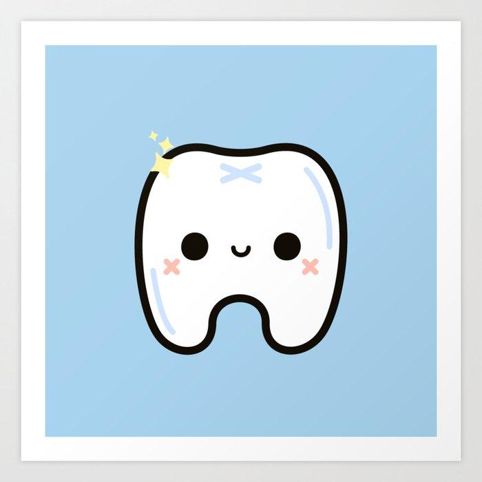 Cute tooth Kunstdrucke