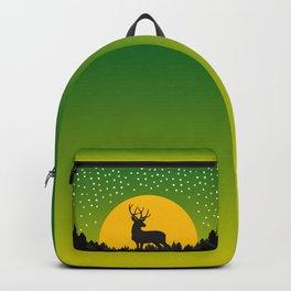 Deer Stars Moon Backpack