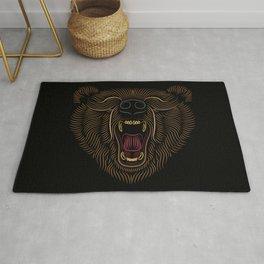 Bear Head - Line Art Grapic - Animal Drawing Rug