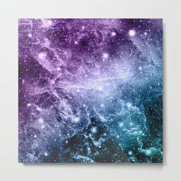 Purple Teal Galaxy Nebula Dream #4 #decor #art #society6 Metal Print