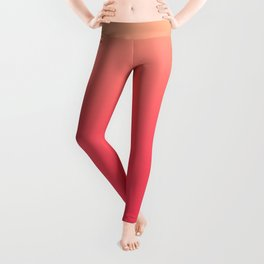 Coral Pink Ombre Leggings