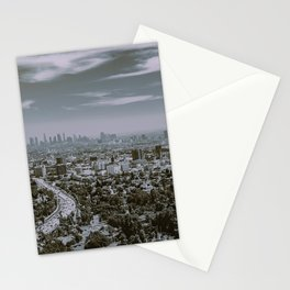 L.A. as seen from Mulholland Drive Stationery Cards