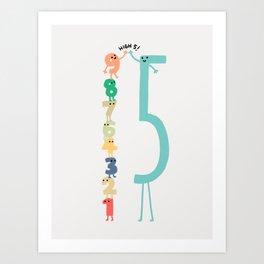 High 5! Art Print