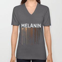 Drippin Melanin Shirts for Women Pride Gifts Black History Unisex V-Neck
