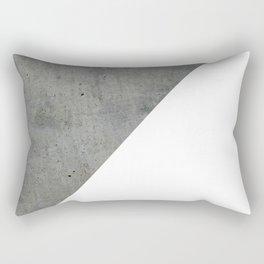 Geometrical Color Block Diagonal Concrete Vs White Rectangular Pillow