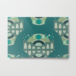 Mystical Moon Palace in Jade Metal Print