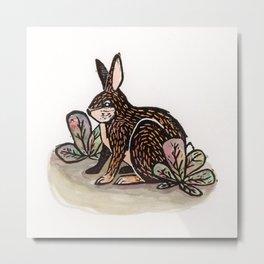 Waabooz Rabbit Print Metal Print