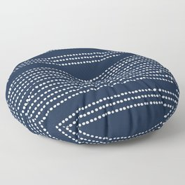 Spotted, African Pattern in Blue and White Floor Pillow