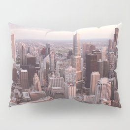 Downtown Chicago Skyline, Fine Art Photography Pillow Sham