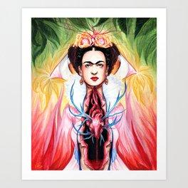 Frida Kahlo Open-hearted Art Print